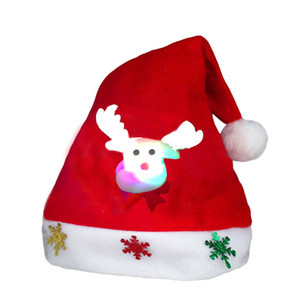 Christmas Hat Xmas Mini Red Santa Claus Snowman Deer Party Decor Christmas Caps Decorations beanie for kids adult Tableware Holder OWB2314