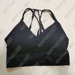 2021 New cross Shoulder strap sexy yoga clothes, yoga tops, Run Breathable Fitnes bra, bottoming shirts, sports vests, wrapped chests, c6