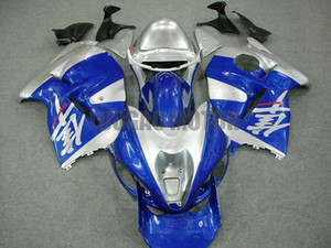 Le carenature Kit blu argento Carrozzeria per SUZUKI GSXR1300 GSXR1300 96-07 GSXR 1300 1997 1998 1999 2000 2001 2002 2003 2004 2005 2006 2007