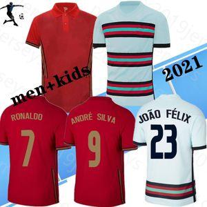 Ronaldo Soccer Jerseys Football Game 19/20 manches courtes Accueil Red João Félix Chemises de football 2020 Awa Blanche National Team Football Uniformes