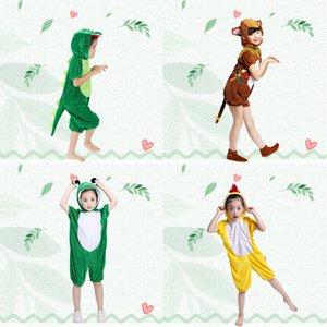 Costumi per bambini Dinosauro Giorno festa di compleanno del ragazzo dei capretti ragazze animale Rana Cosplay Onesies Kigurumi Dance Performance Abbigliamento