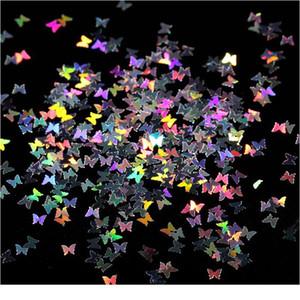 Fluorescence Butterfly Shape   Heart-shaped Nail Art Glitter Flakes 3d Colourful Sequins Polish Nail De jllBui