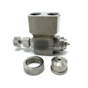 YS 1 8 and 1 4 JAC Stainless Steel Siphon or Pressure Feed Air Atomizing Nozzle, Atomizing Misting Water Spray Nozzle