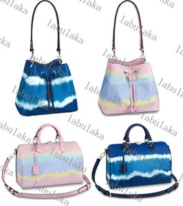 M45126M45124 Сумки сумки сумки из кожи ковша сумка женские цветочные печати Сумка Crossbody 3 цвет с шарфом