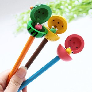 Child Creative Cartoon Pencil Cute Cartoon Watermelon Frog Writing Stationery Student Learn Reward Children Day Gifts Wooden Pencil 57