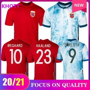 neue 20 21 Norwegen Fussball JERSEYS 2020 2021 noruega Haaland Ödegaard Berge König camisetas de fútbol Nationalmannschaft Fußball-Uniform-Thailand