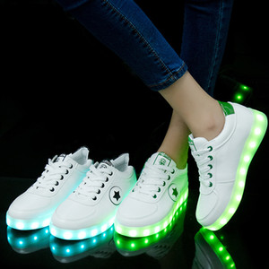 Светящегося Танцевального USB мигающего привидения Charging Led Luminous Дети кроссовки для мальчиков Девочки Высвечи обуви