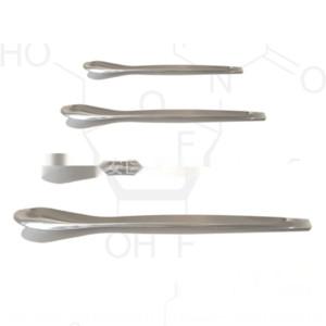 J13ZT Kalınlaşmış paslanmaz çelik mikro 3 * 1 tek, çift kafa tıp kaşık kare kafa tıp kaşık