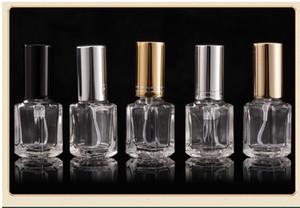 5ml bottiglia di profumo quadrato Mist Spray Bottle portatile della bottiglia di profumo di vetro bottiglie di profumo trasparente in metallo con argento copertura oro nero