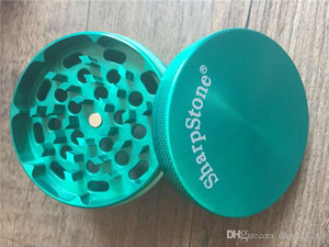 100PCS 40mm 63mm SharpStone ® Grinders 4pc Sharp Stone Tobacco herb grinde for Smoking Metal Zinc Alloy grinder