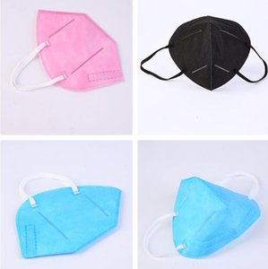 KN95 Mask Factory 95% Фильтр красочных масок Activated Carbon Дыхательные Респиратор клапан 6 слоя маска для лица индивидуальных пакетов свободного корабля