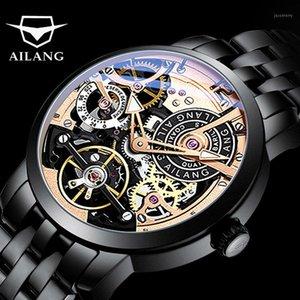 2020 Ailang Tourbillon relógio automático de negócios relógios mecânicos dos homens auto-enrolamento relógio de pulso Erkek Saat Zegarek Meski1