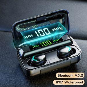 TWS Bluetooth Наушники 5.0 Беспроводные Спортивные Игровые Игровая шумоподавление Беспроводные наушники с 2000 мАч Силовой Банк Bluetooth Гарнитура