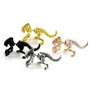 3D уникальный панк инопланетянин динозавр животных кошка собака олень дельфин лошадь паук топор серьги металлические проколочные серьги унисекс украшения