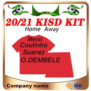 2020 #10 MESSI kids kit home Soccer Jersey 20 21 SUAREZ GRIEZMANN F. DE JONG Child Soccer Shirt ARTHUR O.DEMBELE Football uniforms
