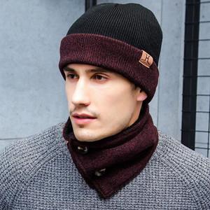 Set d'hiver Bonnet et écharpe Infinity Gants en tricot écran tactile 3 pièces d'hiver Bonnet Chaud Régle Bonnet + écharpe + Gants