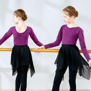 Bambini autunno e inverno lunghi sking skirt balletto figura ragazza danza formazione DRS
