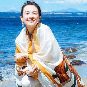 36style étnico bufanda mantón de las mujeres de lino de algodón Toalla étnico Mar Alquiler de vacaciones Protector solar bufanda de seda de la toalla de playa de Bohemia 180 * 100cm GGA3758-1