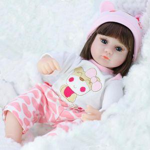 Silikon Wiedergeburt Puppe Simulation Baby Puppe Wiedergeburt Weiche Kleinkind Baby Spielzeug Mädchen Kind Geburtstag Weihnachtsgeschenk