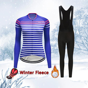 Winter Cycling Clothing Women Warm Kit 2020 Thermal Fleece Road Bike Jersey Set MTB Suit Female Dress Bicycle Clothes Skinsuit