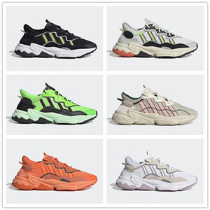 New reflective xeno ozweego men women breathable running Solar Yellow Pride Cloud White Black Dad shoes sports sneakers size 36-45