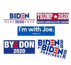 Joe Biden Letters President 2020 Bumper Sticker Donald Trump Car Stickers PVC Decals USA Campaign Paster Souvenir D62903