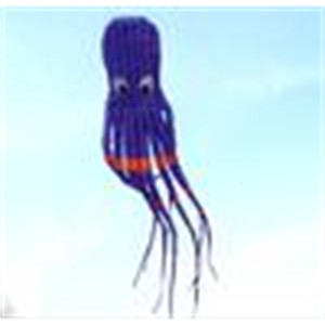 3D 26ft 8m single Line Stunt Parafoil Purple Octopus POWER Sport Kite outdoor toy A++