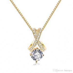Zircon Collier Simple Trendy pendentif en cristal Collier Collier ras du cou exquis Bijoux Bijoux CZ Zircon Colliers pierre