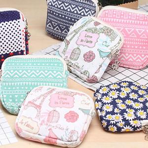 Wallet Flower Fashion Napkin Cute Storage Hiflq Bag1 Travel Woman Zip Purse Pad Bag Key Towel Kids Mini Canvas Portable Coin Vduou