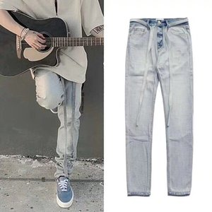 19SS New Street High Washed Fashionable Fear Pant Streamer God FOUTH SEASON Denim FOG Pants Blue Pencil Of HFSSKZ002 Camdm