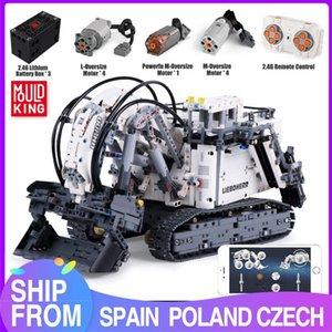 Mold King 13130 Technic APP дистанционного управления грузовик R9800 Terex RH400 экскаваторной Модель Строительные блоки Кирпич Детские игрушки Подарочные C1115