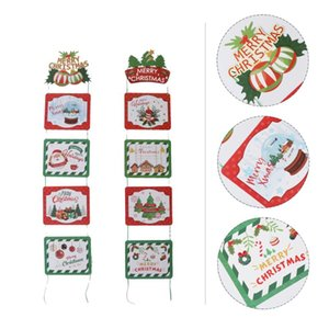 1pc Chic Lovely Fashion Photo Props Christmas Board Door Hanging Ornament for Party
