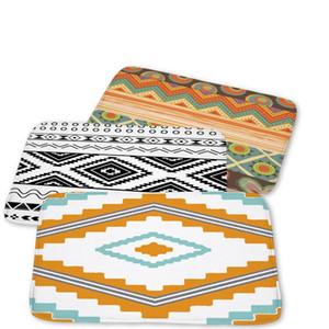 Vintage Geometry Modern Anti-Slip Line Lattice Printing Decoration Doormat Outdoor Kitchen Home Bathroom Soft 40*60Cm Mat Rug