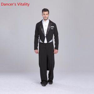 2020 Ballroom Dance Dress Retail individual For Men Ballroom Suit Tuxedo Tail international Standard Dance 5 pcs.Free Delivery