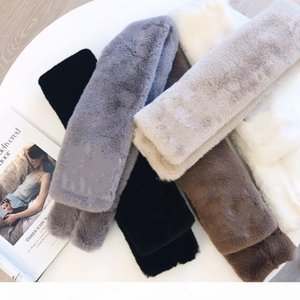 High-grade classic rabbit hair letter name scarf for men and women in autumn and winter, scarf size 90*13cm