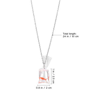 1 Pc Fish Pendant Creative Transparent Novelty Necklace Hanging Ornament Fancy Carp Necklace For Women Ladies Girls sqcDJF sports2010
