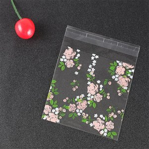 Clear Frosted Rose Candy Cookie Bags Wedding Birthday Party Self Adhesive Plastic Biscuit Packaging Gift Bag