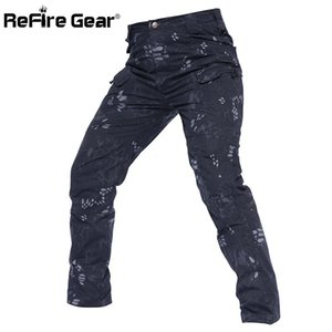 ReFire Gear New IX7 Waterproof Tactical Cargo Pants Men Multi Pocket Rip-Stop Camouflage Pants SWAT Combat Army Trouser