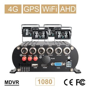 Free Shipping 4 Channel WIFI GPS 4G 1080P AHD 2TB HDD SD Car DVR MDVR Video Recorder Phone Realtime Monitor Rear View Car Camera