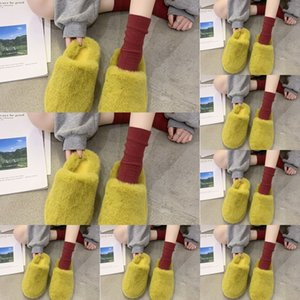 CLiX warm women039;s winter slippers with real wool real calfskin slide sandals Fashion fur boots