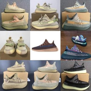 2020 Scarpe Kanye West Cinder Yecheil Asriel statici Triple nero riflettente Stylist Sneakers salvia del deserto Zebra USA 13 Running Shoes Shoe