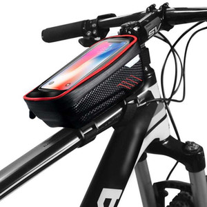 sale Hot Mountain Bike Rainproof Waterproof Mtb Front 6.2inch Mobile Phone Case Bicycle Top Tube Bag Cycling Accessories