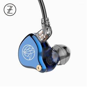 Headsets TFZ TF T2 Galaxy Graphene Динамический драйвер HIFI Наушники в ухе с 2PIN / 0,78 мм Съемный кабель 16OHM 110DB 1.2M IEM T2G1