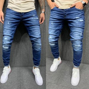 Baqueros Rotos Hombre New Tejanos Hombre Ripped Mens Pants Fashions Men Stretch Jean Homme Fashion Slim Fit Skinny Men Jeans