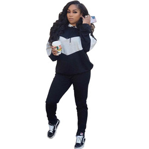 Casual Workout Two Piece Set Women Tracksuit Hoodies Tops and Pants Sport Suit Sporty Active Wear Matching Sets Jogging Femme