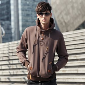 Loose Sweatshirts Button Hoodies Personality Fall Printed Hooded Mens Casual Cool Fashion Rapper Autumn Spring Mens Pullover Tops Hclqr
