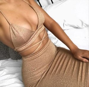 Hot Sexy Women Bodycon Summer Dress Clothes Sets Hollow Out Bandage Crop Tops Mini Skirts Sexy Ladies Evening Party Clothes