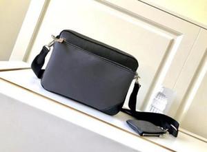 Men's Black Flower Three-Piece Trio Messenger Bag M69443 Size: 25*18.5*7CM