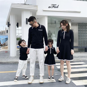 Abiti da figlia madre per famiglie di nozze Abbinamenti Abbinamenti Abiti Son And Mum Shirts Padre Daddy e Mini Bambino Vestiti Autunno Maglione LJ201112