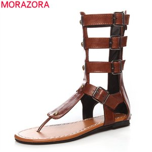 Summer boots 2020 fashion casual buckle women sandals comfortable flat heel round toe black brown ladies shoes210